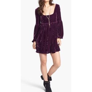 Free People velvet babydoll dress